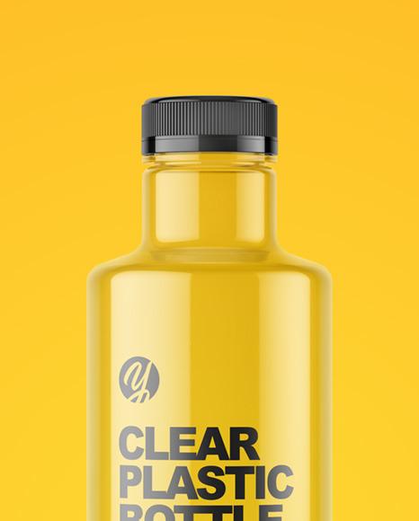 1L Empty Clear Plastic Bottle Mockup