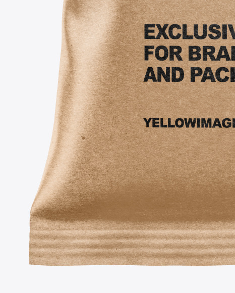 Matte Bag With Corrugated Black Potato Chips Mockup