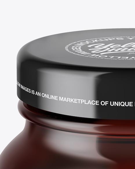Amber Cosmetic Jar Mockup – High-Angle Shot