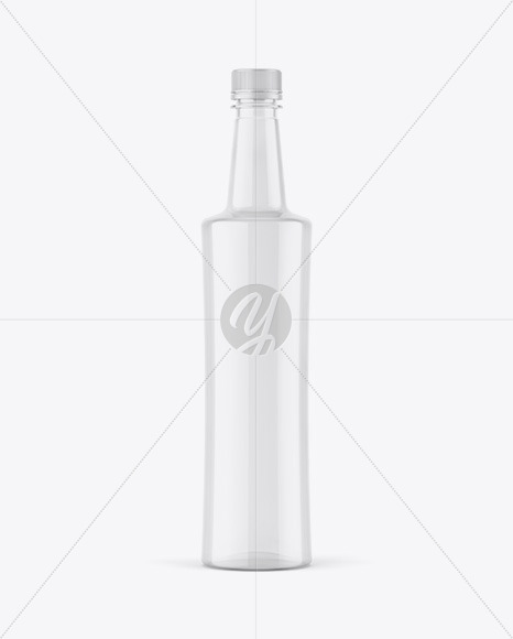 750ml Empty Clear Plastic Bottle Mockup