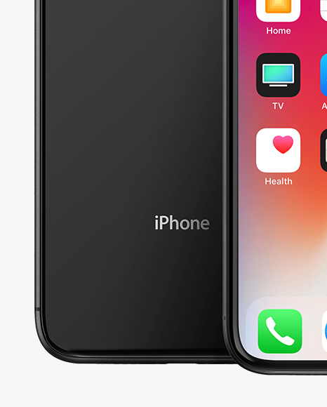 Black Apple iPhones XR Mockup