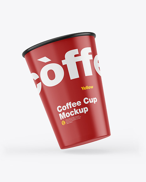 Glossy Coffee Cups Mockup
