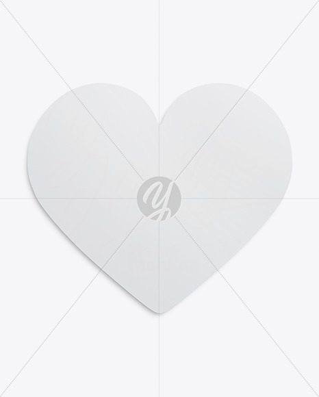 Heart Shaped Card Mockup