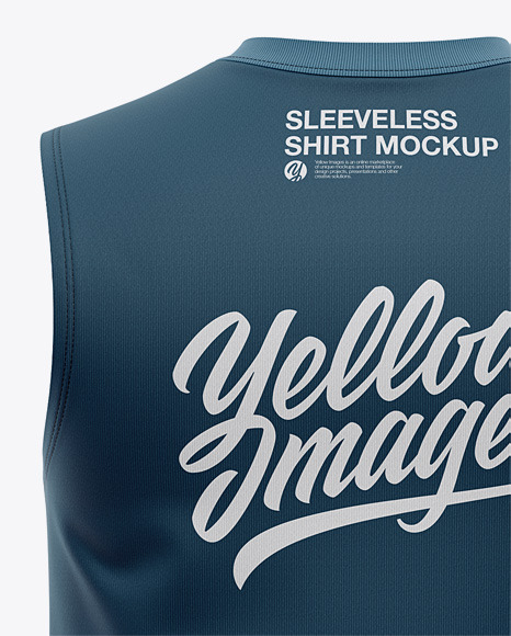 Men's Sleeveless Muscle Shirt Mockup - Back View