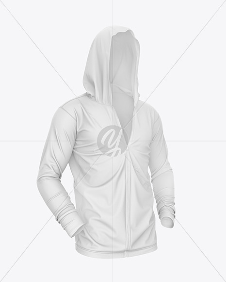 Download Short Sleeve Zip Hoodie Mockup Back View Yellow Images