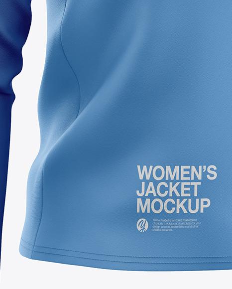 Women's Long Sleeve Jacket Mockup