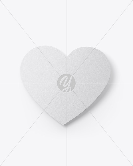 Heart Shaped Card Mockup