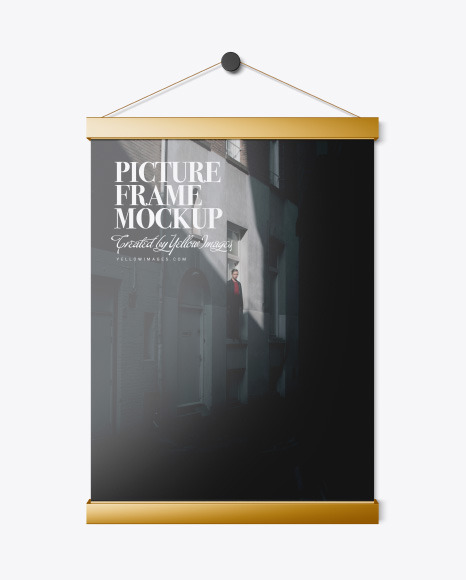 Metallic Picture Frame Mockup