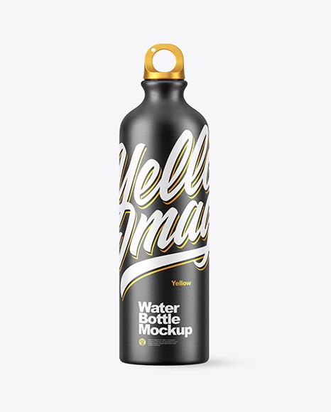 Matte Aluminum Water Bottle with Сork Mockup