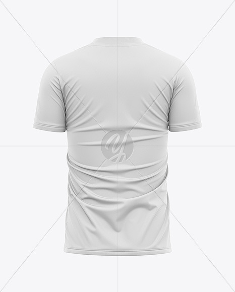 Men's Soccer Jersey T-shirt Mockup - Back View - Football Jersey Soccer T-shirt