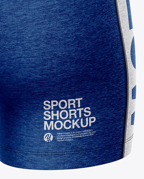 Melange Women's Sport Kit Mockup - Back Half Side View