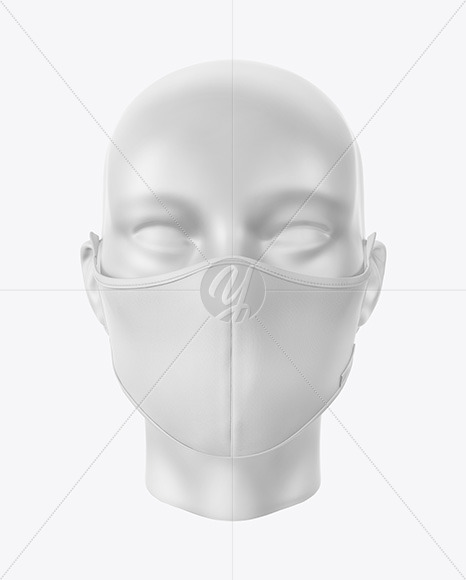 Download Face Mask Mockup Front Half Side View High Angle Yellowimages