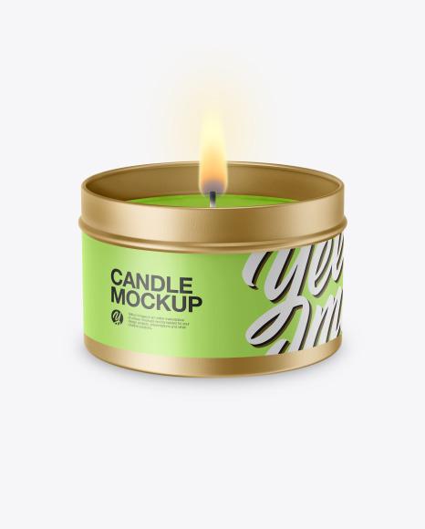 Tin Candle Mockup