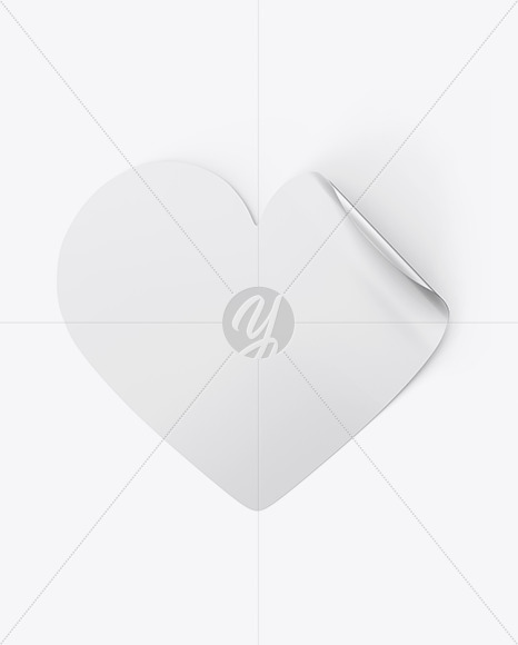 Heart Shaped Sticker Mockup