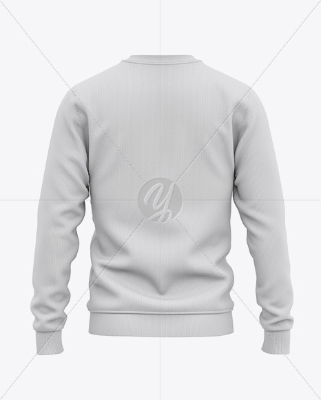 Men's Sweatshirt Mockup - Back View