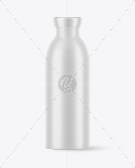 Matte Aluminum Drink Bottle 500ml Mockup