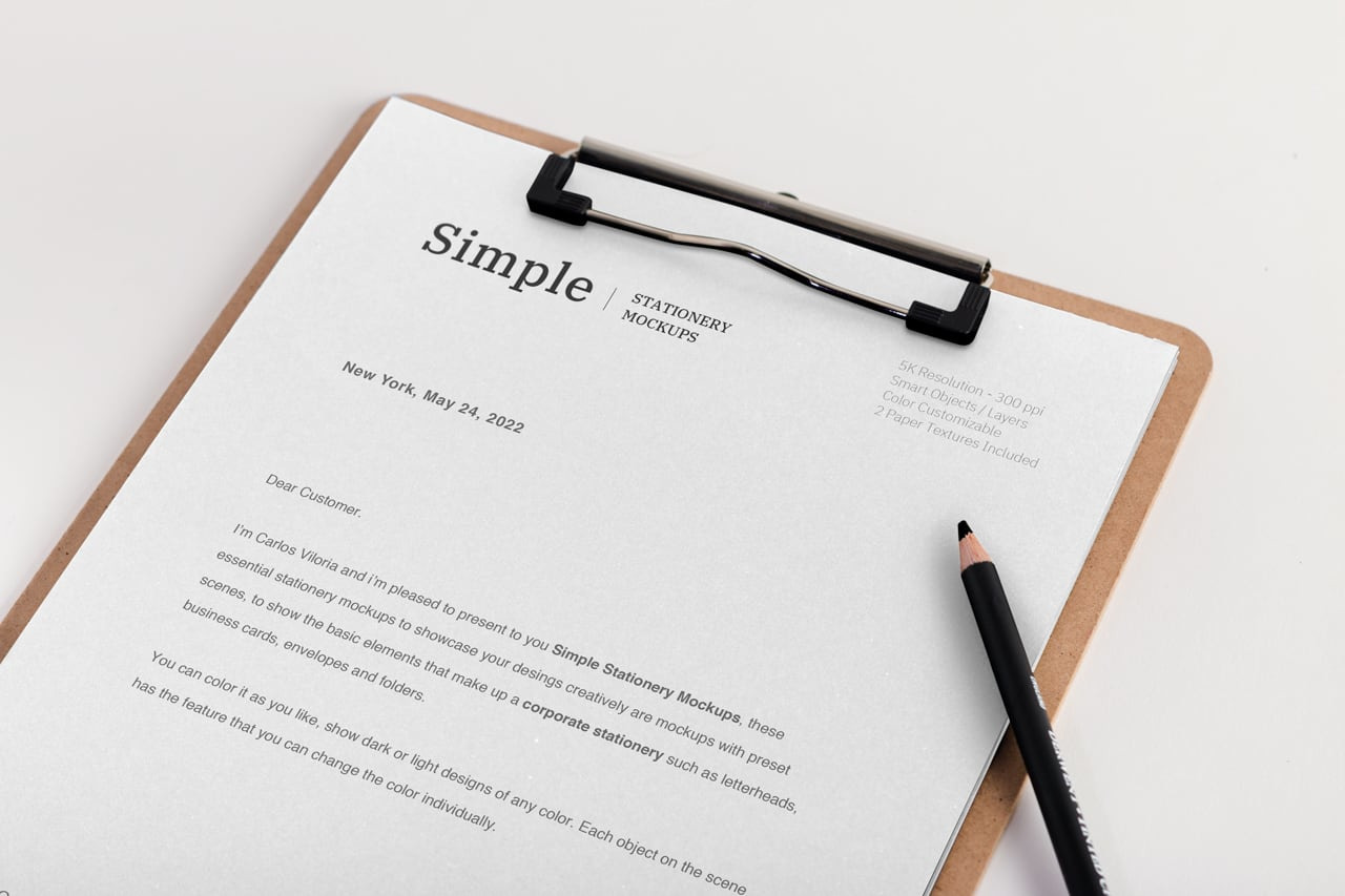 Download Letterhead And Envelope Mockup Free PSD - Free PSD Mockup Templates