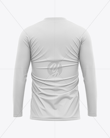 Men's Long Sleeve Soccer Jersey T-shirt Mockup - Back View - Football Jersey Soccer T-shirt