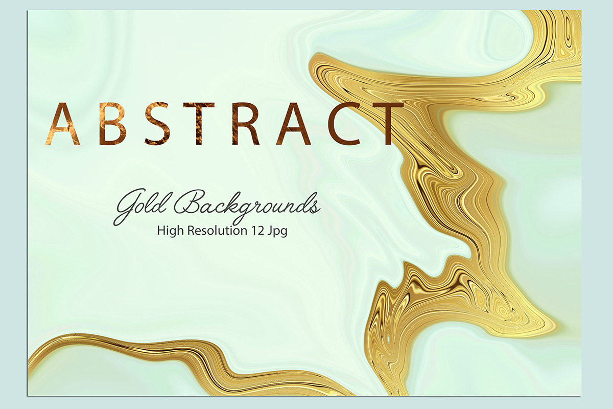 Abstract Gold Paint Backgrounds