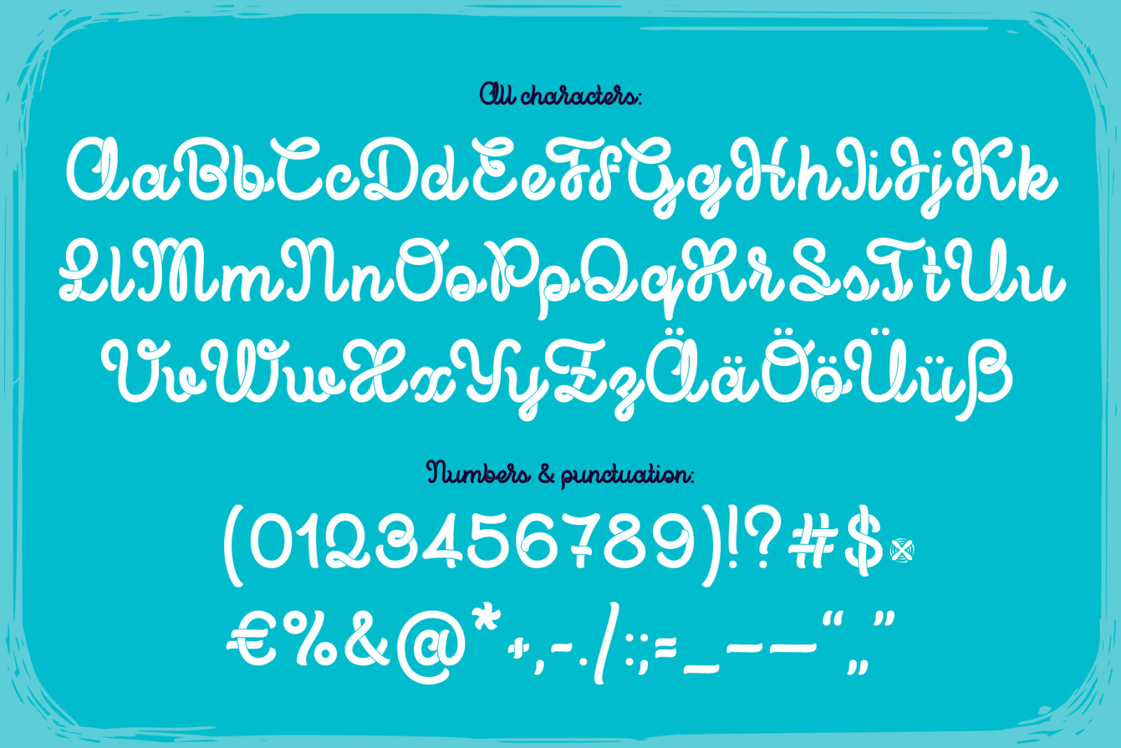 Propeller font + illustration