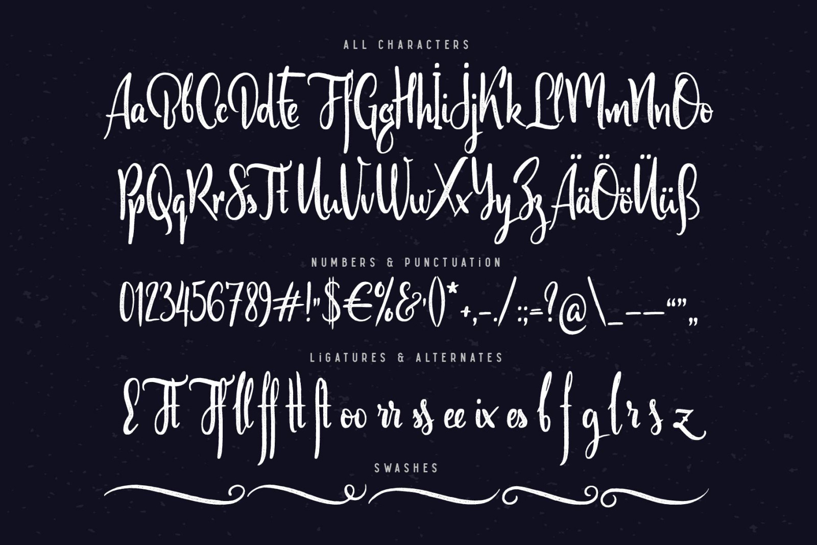 Scratches calligraphic font