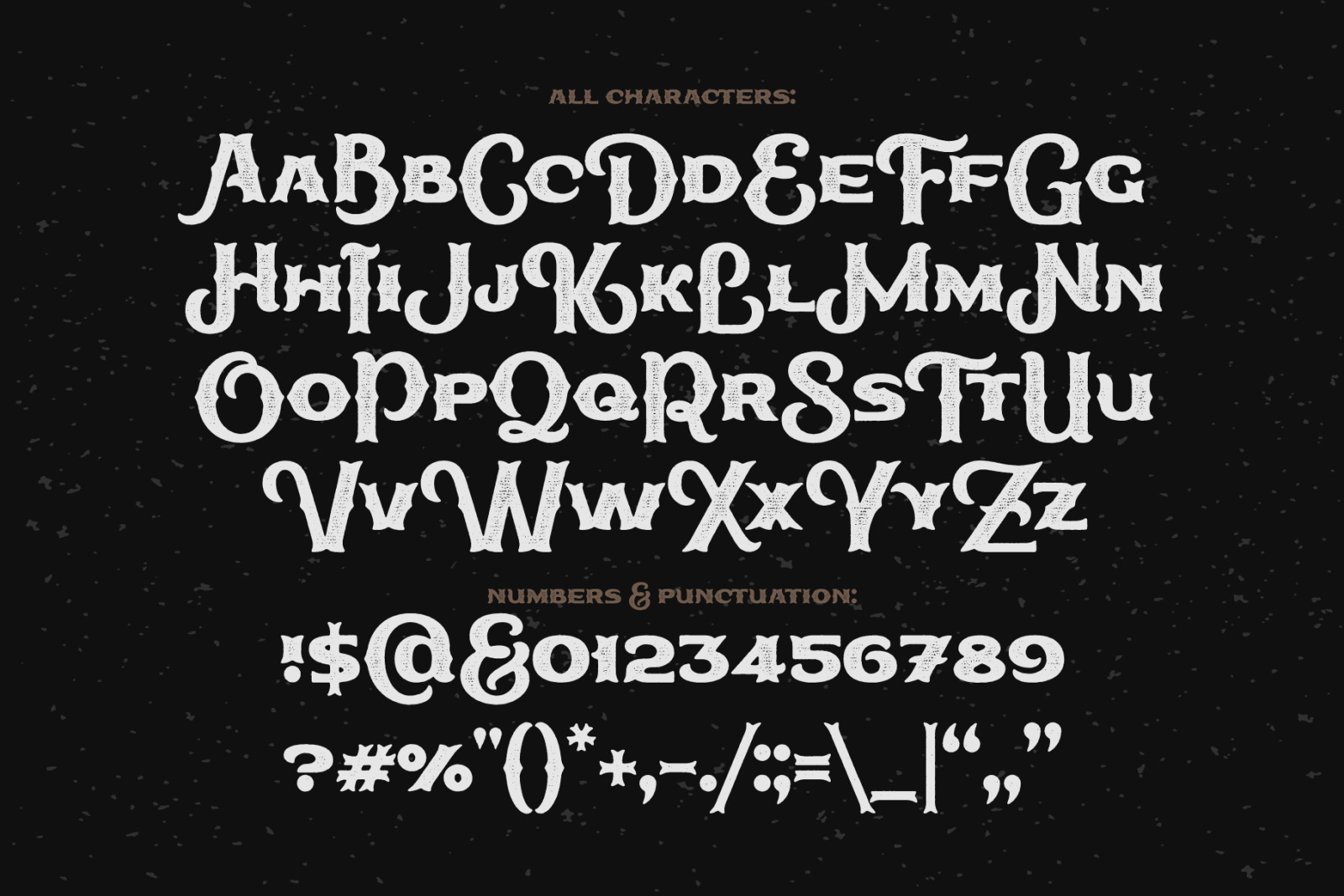 True Black typeface