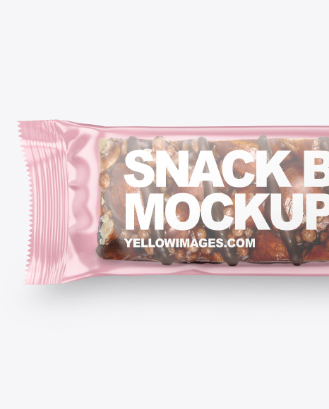 Snack Bar With Nuts Mockup
