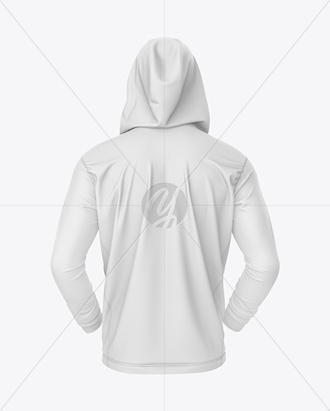 Full-Zip Hooded Sweatshirt Mockup – Back View
