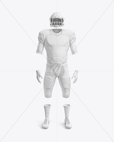 American Football Mockup - Front View
