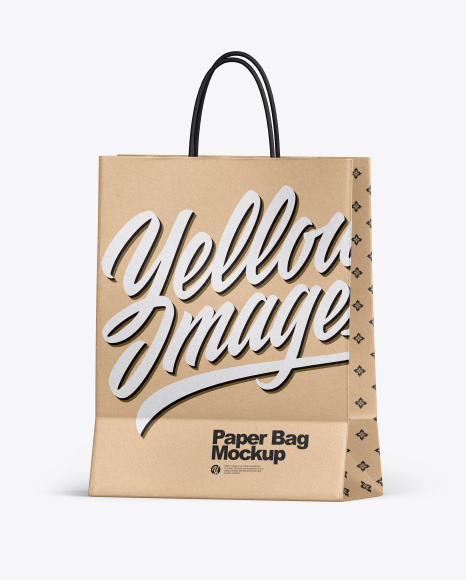Kraft Shopping Bag w/ Rope Handles Mockup