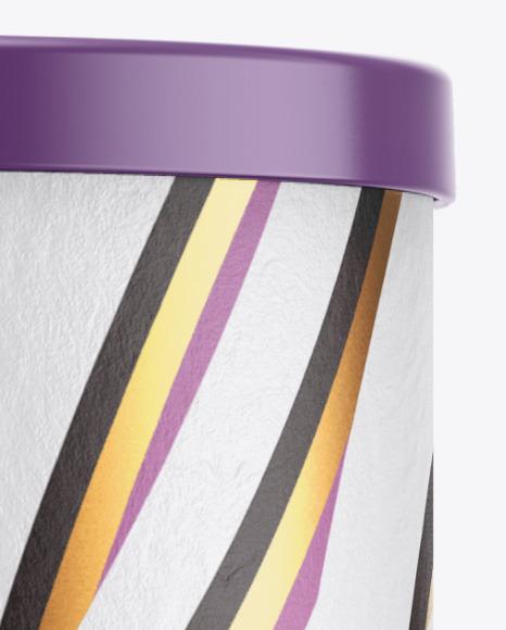 Paper Tube w/ Cap Mockup