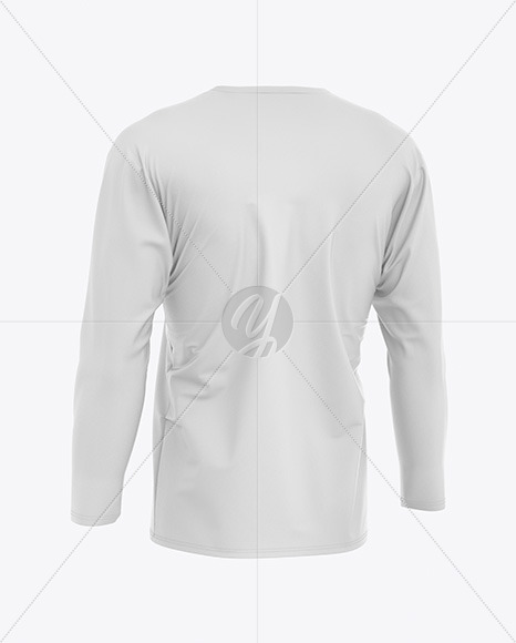 Men's Long Sleeve T-Shirt Mockup