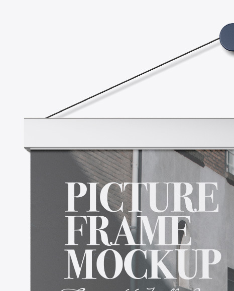 Metallic Picture Frame Mockup