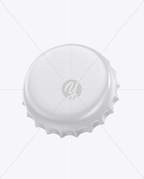 Glossy Bottle Cap Mockup