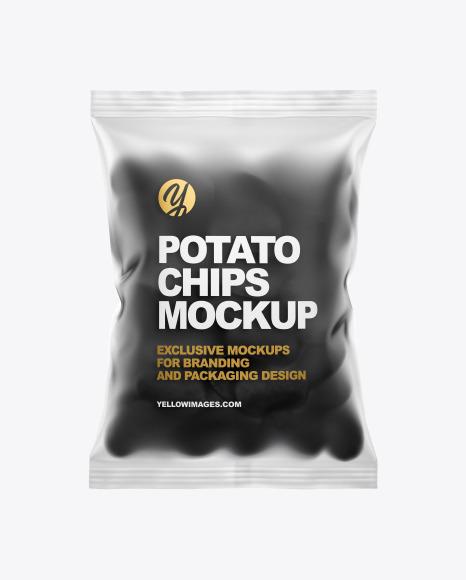 Potato Chips Bag Mockup Free