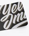 Textured Sticker Mockup
