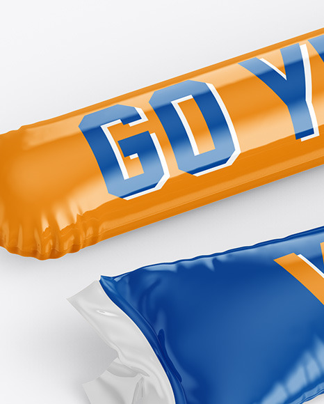 Cheering Balloon Sticks Mockup