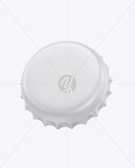 Matte Bottle Cap Mockup