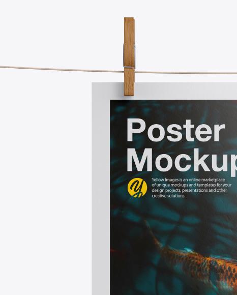 Glossy A4 Poster Mockup