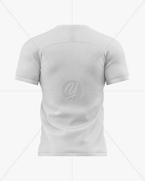 Men's Soccer Jersey Mockup - Back View