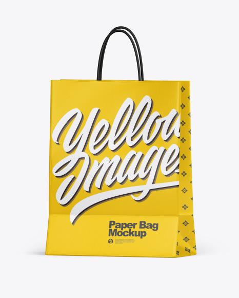Textured Shopping Bag w/ Rope Handles Mockup