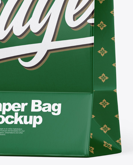 Textured Shopping Bag w/ Rope Handles Mockup