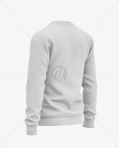 Download Mens Heather Crew Neck Sweatshirt Front Half Side View Of Sweater Yellowimages