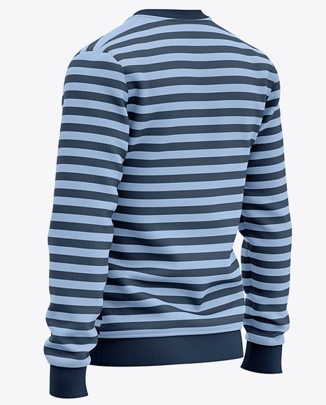 Men's Sweatshirt Mockup - Back Half Side View