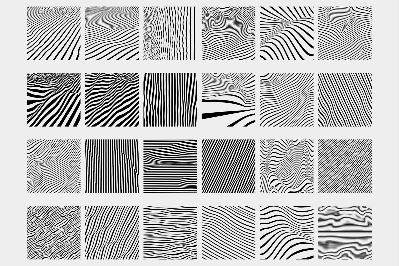 Lined : 24 Vector Patterns