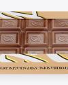 Kraft Chocolate Box W/ Window Mockup - Front View High-Angle Shot