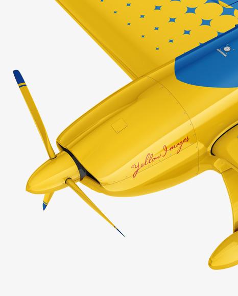 Sport Airplane Mockup - Half Side View