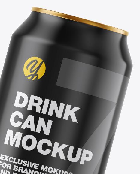 Metallic Drink Can w/ Glossy Finish Mockup