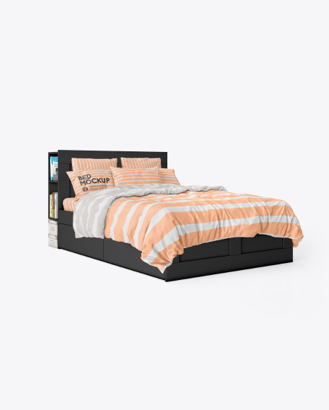 Double Bed Mockup