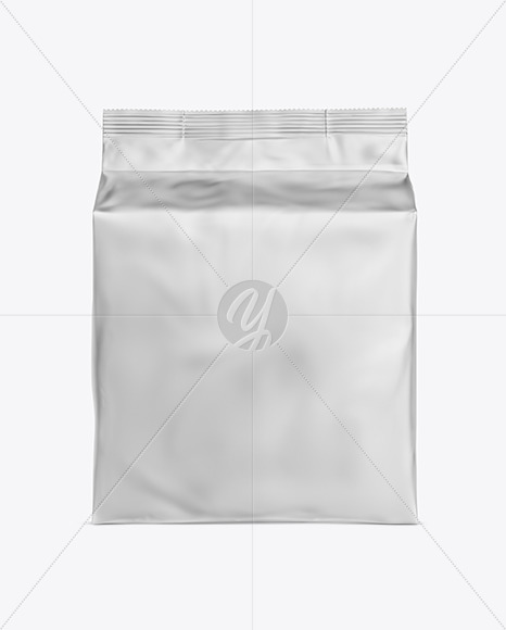 Matte Metallic Bag with Coffee Capsules Mockup